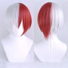My Hero Academia Akademia Shoto Todoroki Shouto Short White Red Cosplay Hair Wig