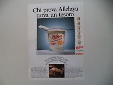 advertising Pubblicità 1987 YOGURT YOMO ALLELUYA