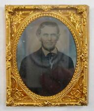 Old Man In Suit With Neck Beard Antique 9th Ninth Plate Ambrotype In Case (O)