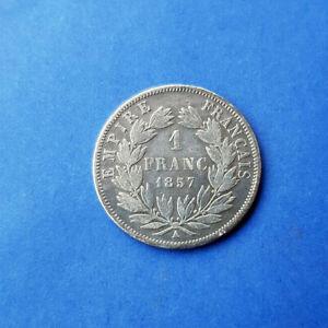 France - 1 Franc 1857 A ( Paris ) - Napoleon III - Argent