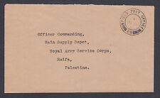 Great Britain Stampless 1938 Field Post Office 25, Haifa, Palestine local use
