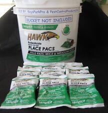 Hawk Rat & Mice Poison 9 Pellet Packs Bromadiolone FRESH 2019 STOCK! FREE SHIP!
