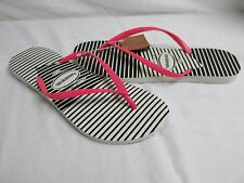 Havaianas 11 To 12 Slim Graphic White Flip Flops Sandals New Womens Shoes NWOB