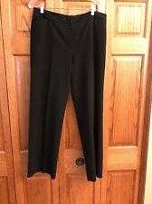 Chicos Pants Black Zip Fly Polyester Rayon Spandex Womans Size 2 Short