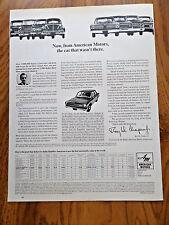 1967 Rambler American 220 Ad vs Sima 1000 VW Volkswagen Renault 10 Opel Kadett