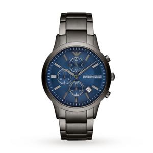 Emporio Armani Watches AR11215 Grey & Blue Steel Chronograph Men's Watch