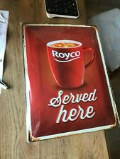 Royco reclame sign new in blister metal erved here