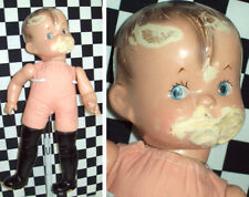 """14"""" Antique Composition Skippy Doll by Effanbee Marked on Head Great Body Help~"""