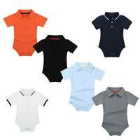 Newborn Baby Boys One-Piece Romper Jumpsuit Lapel Bodysuit Cotton Soft Outfits