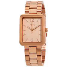 Fossil Atwater Rose Gold Dial Ladies Stainless Steel Watch ES4156