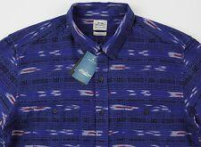 Men's LUCKY BRAND Blue Black Gray Serape Shirt Medium M NWT NEW Amazing!
