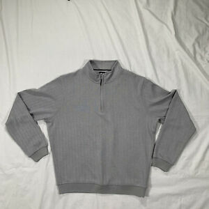 FOOTJOY Soft Poly 1/4 Zip Golf Gray Pullover Sweater Mens Size Large