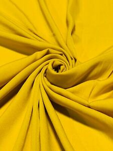 """12 Yards Mustard Yellow Solid Color Quilting Fabric Apparel Upholstery 45""""W #13"""
