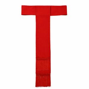 Christian Clergy Red Cincture With Fringe Soutane Roman Cassock Cincture Belt