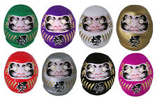 "SET of 8 Japanese 2.25""H Daruma Doll Wish Making Rich Good Luck Made in Japan"