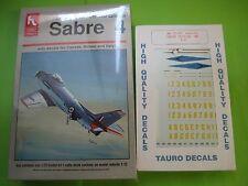 F-86 E FRECCE TRICOLORI BY HOBBYCRAFT & TAURO DECALS 1/72 SCALE