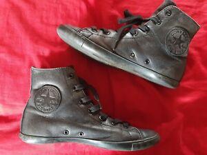 Chaussures Converse All Star montantes cuir noir T37