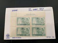 Canada 1953 Textile Industry Scott 334 MNH Plate Block CV $36