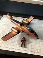 2002 Hasbro Sound Attack GI Joe vs Cobra Rattler Plane with Pilot Wild Weasel