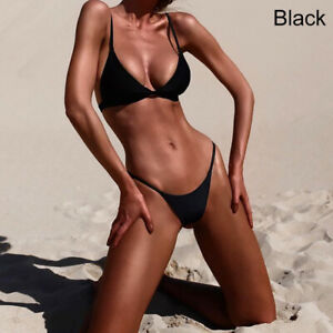 Women Sexy Bikini Set Sleeveless Swimwear Brazilian Thong Swimsuit Bathing Top