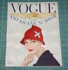 February Vogue 1956 Rare Vintage Vanity Fair Fashion Design Collection Magazine