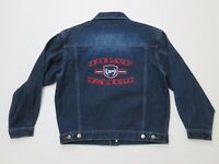 Phat Farm Denim Washed Womens Jean Jacket Size Medium NEW With Tags Spell Out