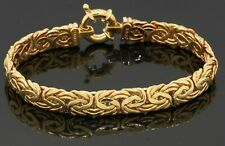 18K yellow gold elegant high fashion 8.3mm wide fancy link bracelet