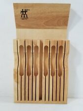 J. A. Henckels International Vertical Wooden Knife Block One Dozen Slots