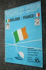 ancien Programme officiel )) IRLANDE V FRANCE 1972 qualification Coupe du Monde