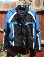RS PERFORMANCE PROTECTION BLUE MOTORCYCLE BIKER JACKET CE ARMOUR: SIZE M