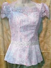Cambodian/Khmer Lace Blouse (White/Pink)