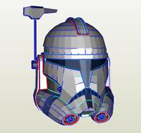 DIY pepakura clone wars REX helmet kit foam build cosplay freepost