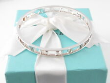 TIFFANY & CO SILVER ATLAS BANGLE BRACELET BOX INCLUDED $600