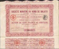 Action: Société Minière du KOBA DE BALATO (BRESIL) (T)