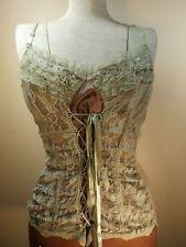WOMEN'S CLOTHING Blouse Corset Green & Bra SEXY LARGE Lace FASHION HOT Style USA