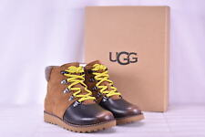 UGG Kids K Hilmar Lace-up Boot Grizzly Size 5 M US Big Kid
