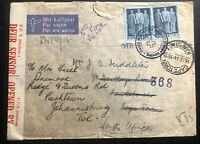 1944 Caux Switzerland Internment Camp POW Cover To Johannesburg South Africa