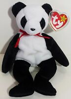 """TY Beanie Babies """"FORTUNE"""" the Panda Teddy Bear - MWMTs! RETIRED! A MUST HAVE!"""