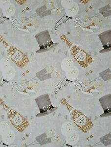 2 SHEETS OF GOOD QUALITY WEDDING WRAPPING PAPER