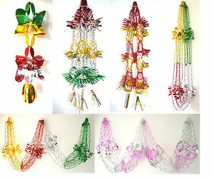 Green Red Silver Gold- Christmas Foil Ceiling Hanging Decorations Garlands Stars
