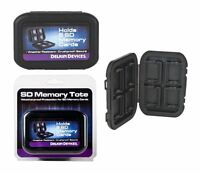 Tough Secure Digital (SDHC/SDXC) Card Case - Holds 8 Cards & is Water Resistant.