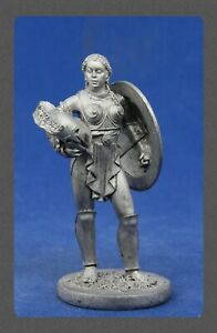 """Tin soldiers """"Ancient Rome"""" (54 mm, 1/32), # 54-14 Gladiator woman """" Amazon"""""""