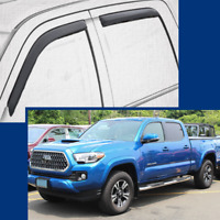 In-Channel Wind Deflectors Window Visors for 2016-2021 Toyota Tacoma DOUBLE CAB