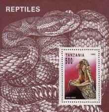 Timbre Reptiles Tanzanie BF217 ** lot 27380