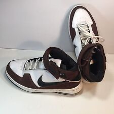Nike Air Force 90 Men's Brown White Basketball Shoe leather Size 13 M Prestine