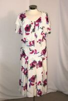 Women 2 PC White with pink flowers Skirt and Top Size 12