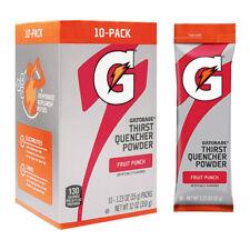 GATORADE 1.23 oz Single Packets Quick Sticks (10 servings x 1 box) FREE SHIPPING