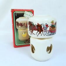 Vintage 1988 Potpourri Press Room Scenter Candle Holder Simmer Pot Sleigh Horses