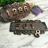 Customized House Number Imitation Address Plaque ABS Plastic Door Plate Sign 3D