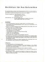 "WW 2  + "" Merkblatt für den Reservisten"""